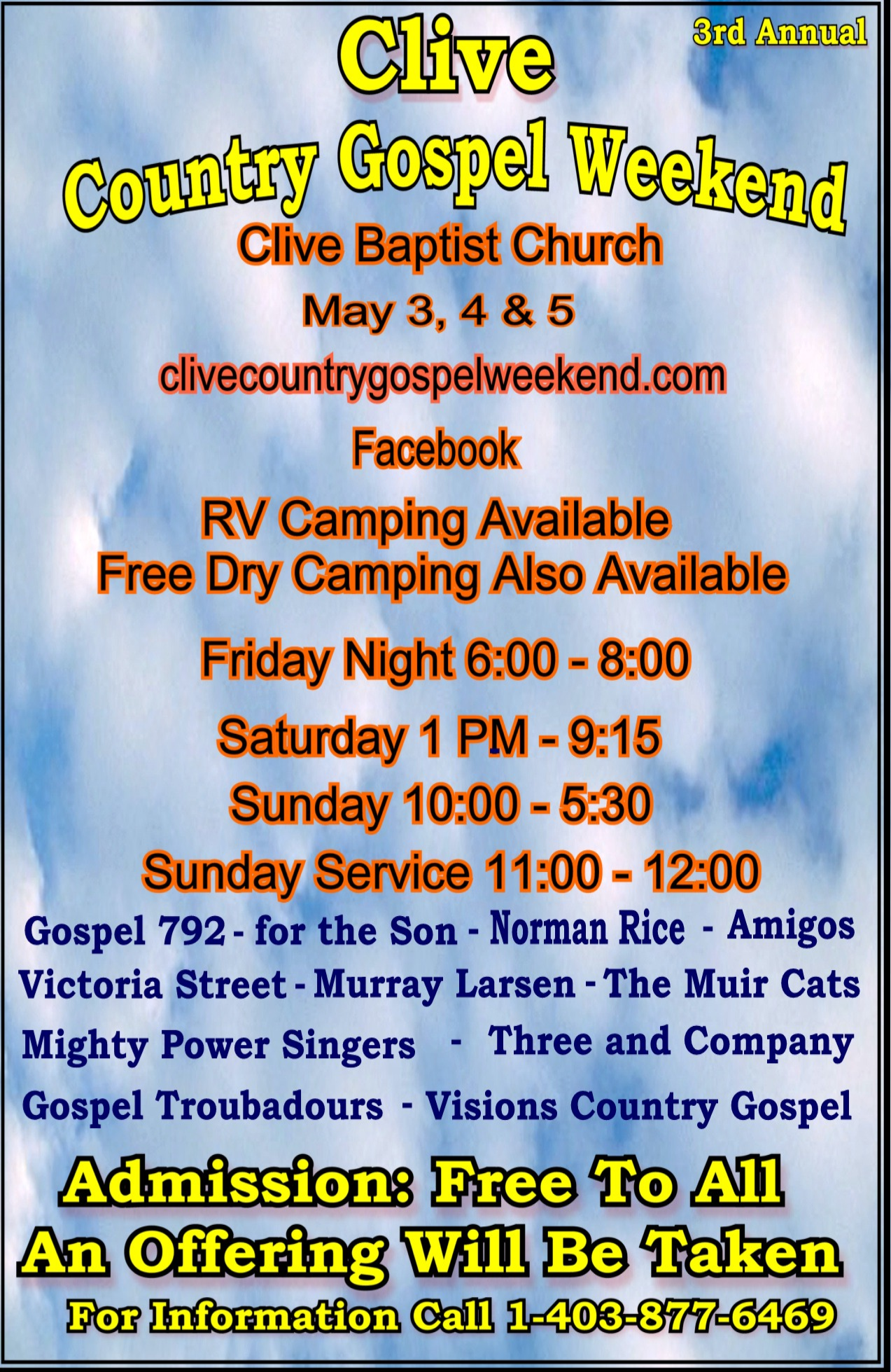 Clive Country Gospel Weekend